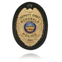 Model 700 Oval Recessed Badge Holder with Clip