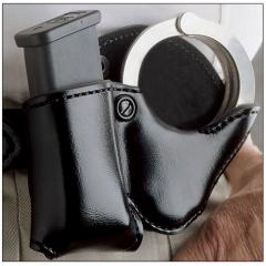 Double Magazine And Handcuff Holder DeSantis A41 Double Play Cuff and Magazine Pouch 27