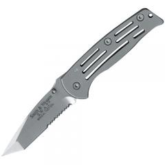 "Smith & Wesson SW3500S SWAT Frame Lock 3.7"" Combo Edge Knife"