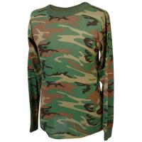 Tru spec 50 50 polyester cotton woodland long sleeve t shirt for 50 percent cotton 50 percent polyester t shirts