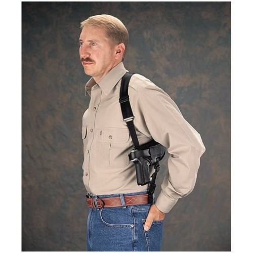 Uncle Mikes Nylon Cross Harness Horizontal Shoulder Holster